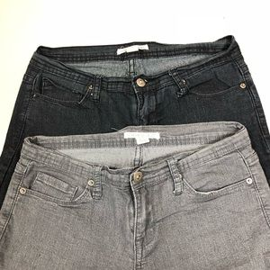 2 Skinny Ankle Jeans